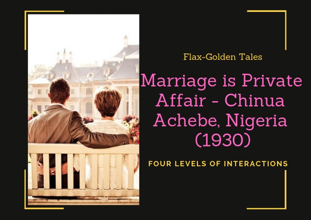 marriage is a private affair analysis