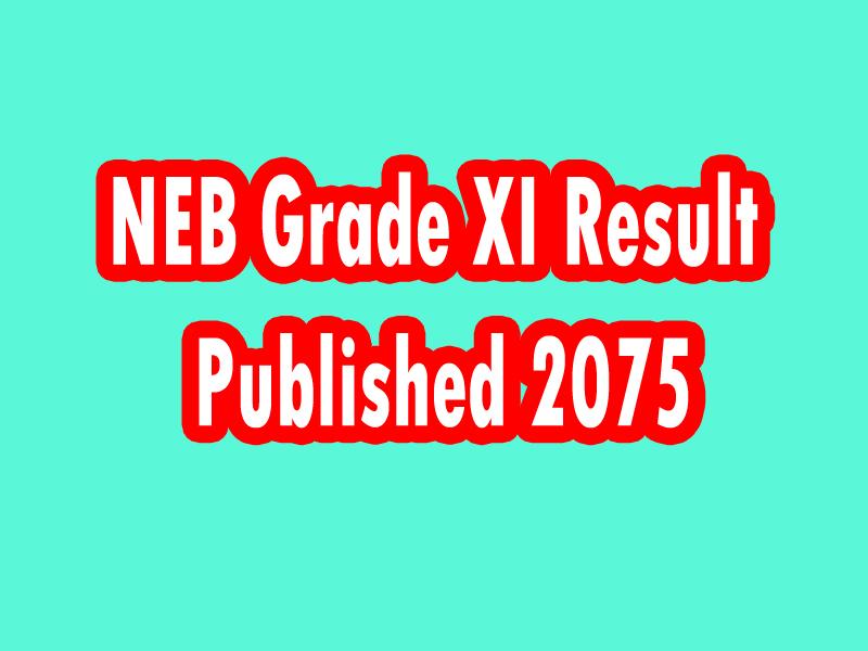 NEB Grade 11 Result Published 2075
