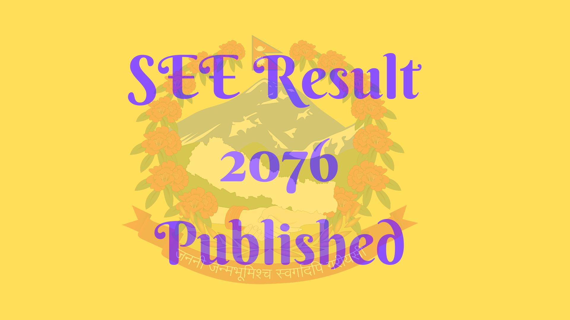 SEE Result 2076 Published