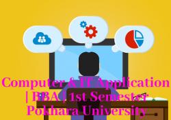 Computer & IT Application BBA 1st semester