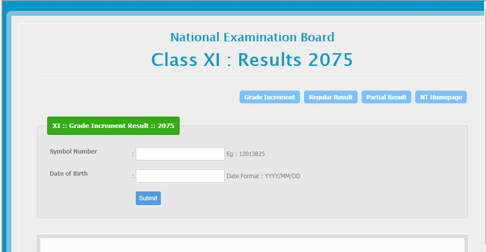 Grade Increment Result Published 2075