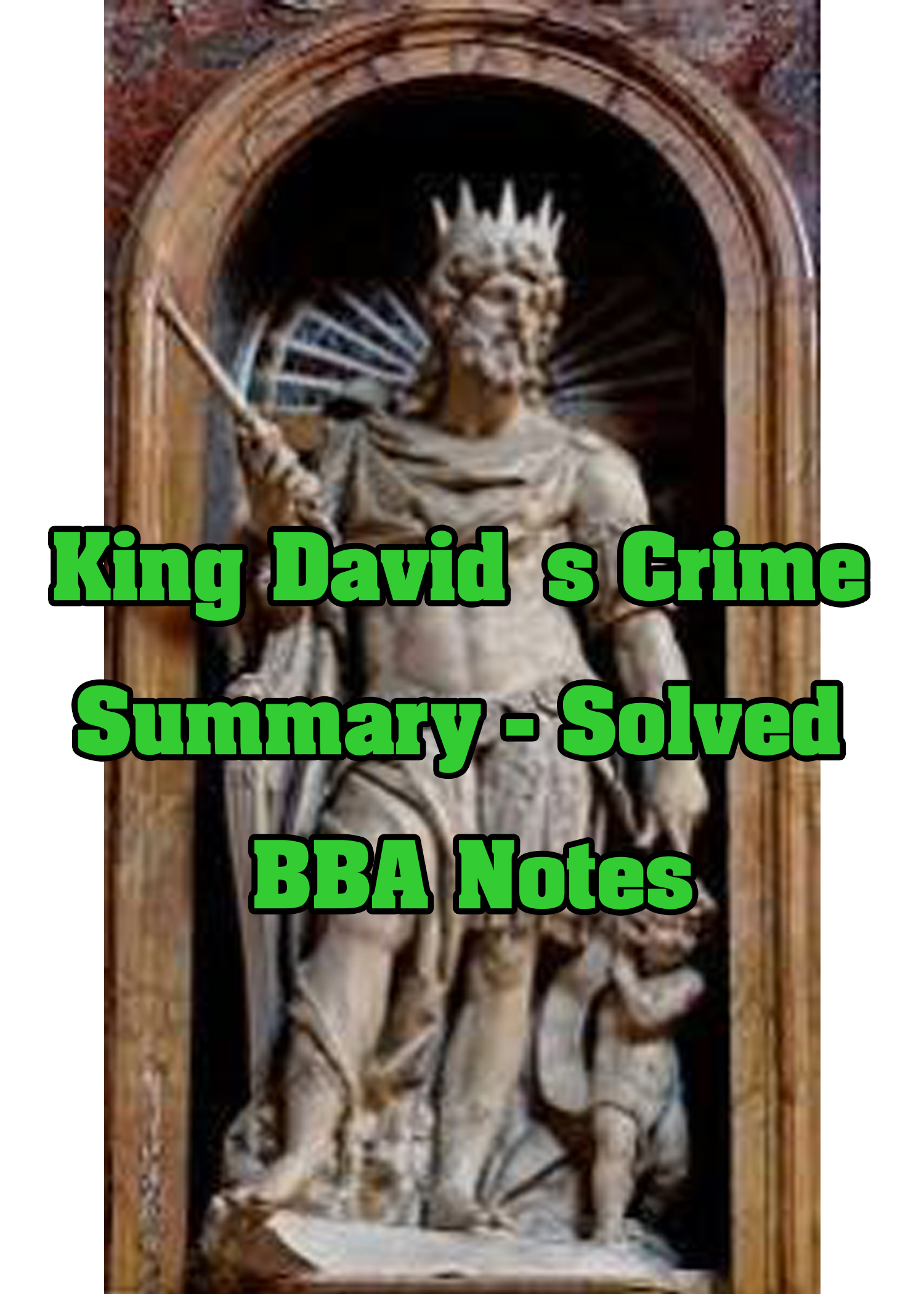 King David's Crime Summary – Solved BBA Notes