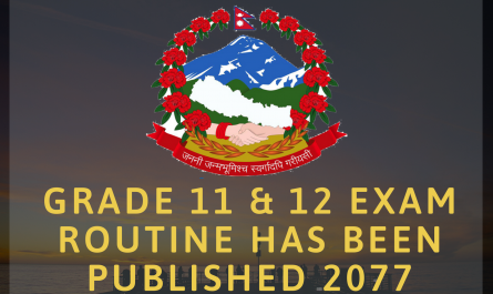 Grade 11 & 12 Exam Routine has been published 2077