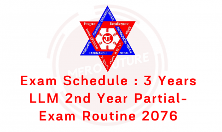 Exam Schedule : 3 Years LLM 2nd Year Partial-2076