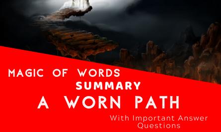 Summary A worn path